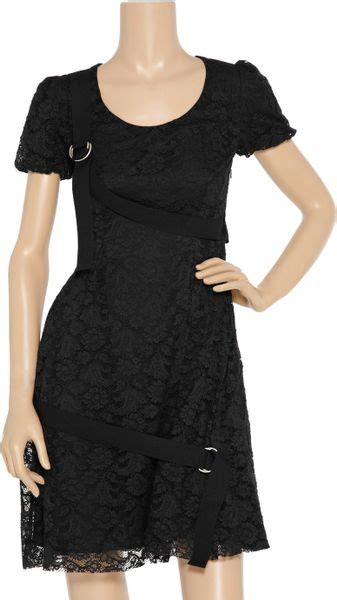 Mcqueens Mcq Lace Insert Evening Gown by Mcq By Mcqueen Lace Dress In Black Lyst