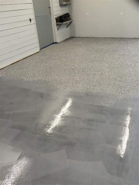 full broadcast garage floor