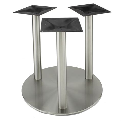 Dining Table Bases Metal Rfl750x3 Stainless Steel Table Base Dining Height 28 1 4 Quot Tablebases Quality Table