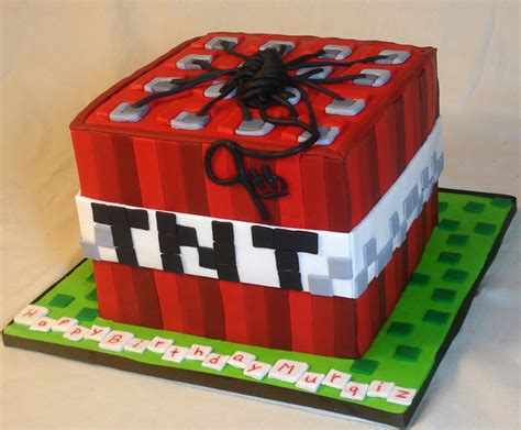 Room Ideas For Girls by Minecraft Tnt Block All Fondant 3 D Shaped Cakes