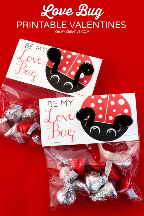 creative valentines bug printable s day cards oh my creative
