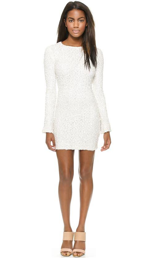 Emionette Zoe Bell Sleeve Top by Lyst Zoe Bell Sleeve Sequin Mini Dress Ivory In