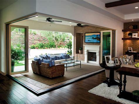 glass indoor outdoor door custom deck options hgtv