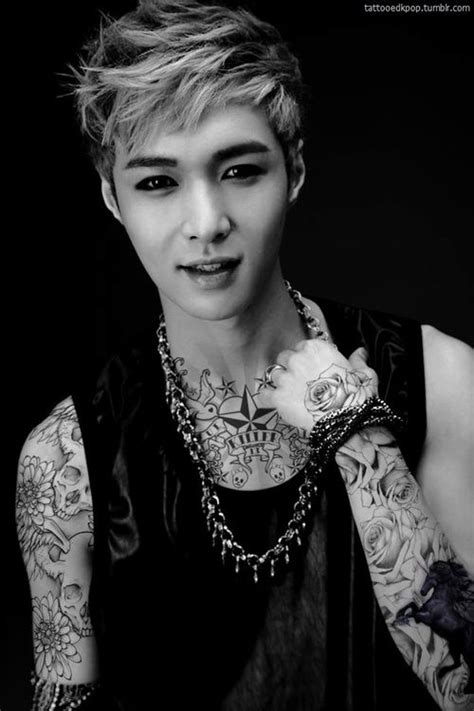 chanyeol tattoo edit 114 best kpop idol edits piercings and tattoos images on