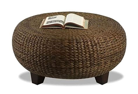 Woven Coffee Table Ottoman Rattan Ottoman Coffee Table Coffee Table Design Ideas