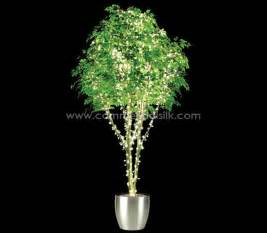 trees with lights artificial ficus benjamina tree with lights lighted silk