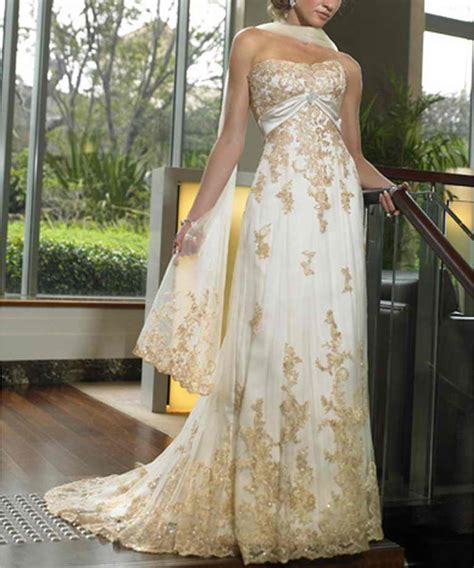 Gold Wedding Dresses by Wedding Gold Bridal Gown Collection