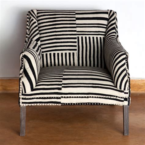 black and white armchair ruby star traders bombay studded armchair block print