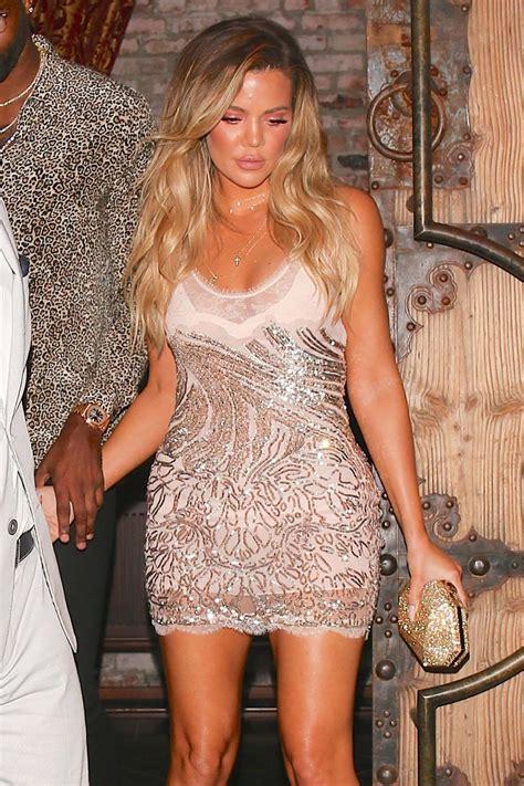 khloe kardashian khloe kardashian leaves her 33rd birthday party in west