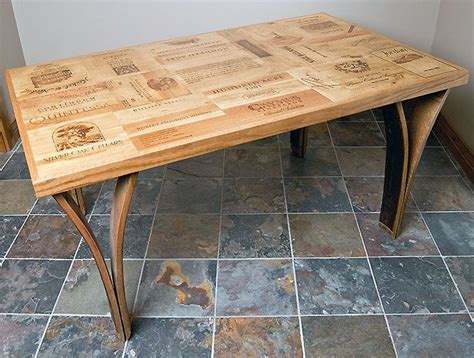 custom wine crate dining room table by alpine wine design