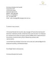 Sales Porter Cover Letter by Letter Of Recommendation Gourmet Sales Manager