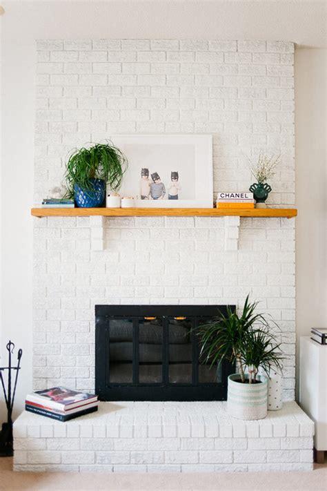 Get Inspired: The DIY White Brick Fireplace   Glitter, Inc