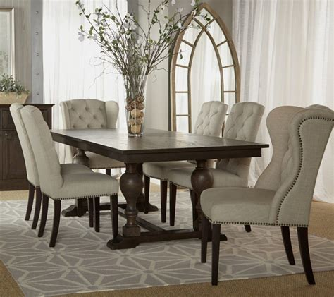 furniture photos hgtv white tufted dining room chairs