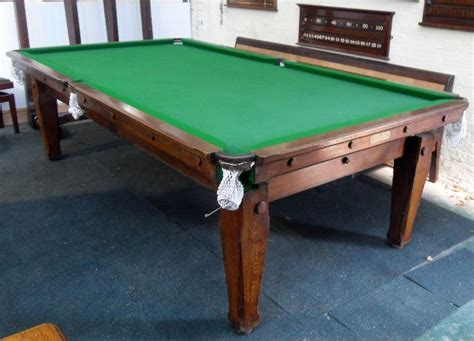 Antique Snooker Dining Table 9ft Antique Snooker Dining Table By Padmore Oak Browns Antiques Billiards And Interiors