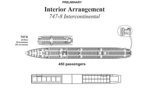 boeing 747 floor plan boeing 747 8 seatcount 400 seats airliners net