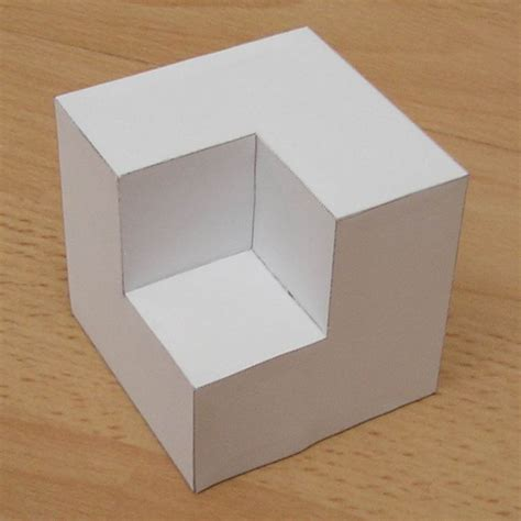 How To Make A Shaped Paper - paper cubic shapes