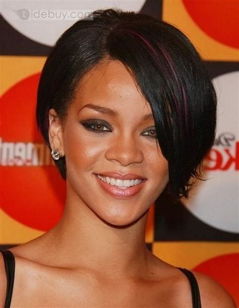 Weave Styles That Are Short Tapered Front Longer In Back   tapered haircut for black women with front long bang