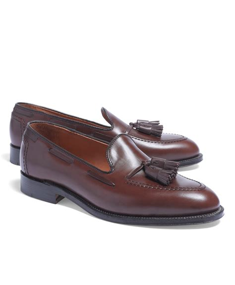 tassel loafers in brothers tassel loafers in brown for lyst