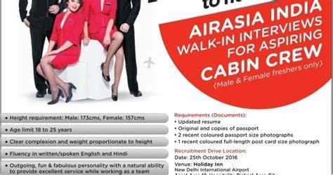 airasia recruitment airasia cabin crew recruitment 2016