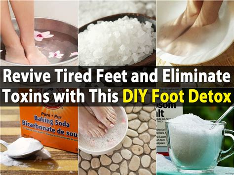 Helping Someone Detox From At Home by Revive Tired And Eliminate Toxins With This Diy Foot