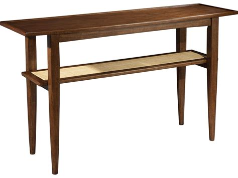 hekman mid century modern walnut sofa table 951309mw