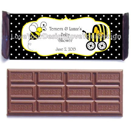 Bar Labels For Baby Shower by Bumble Bee Hershey S Chocolate Bar Labels For