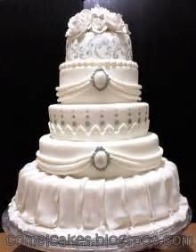 wedding cake fondant comel s cakes cupcakes johor bahru grand 5 tiers stacked fondant wedding cakes