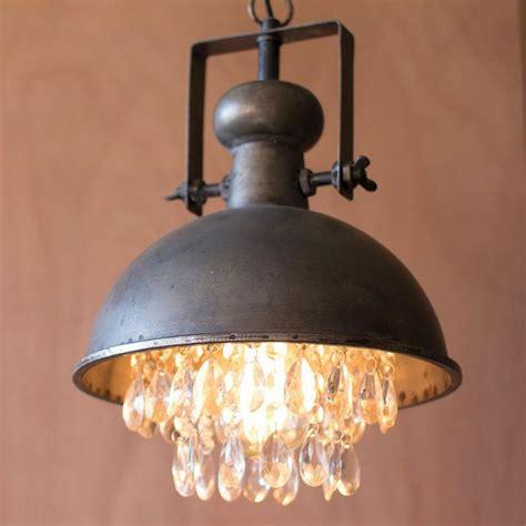 lampara industrial  cristales decorativos mezcla de