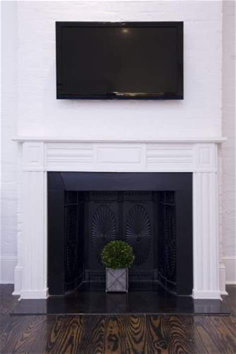 Black Painted Brick Fireplace by White Painted Brick Fireplace With Black Insert Hotel