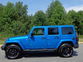 Jeep Wrangler Unlimited Blue Jeep Wrangler Unlimited Blue Blackburn Mitula Cars