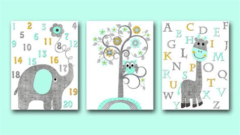 Alphabet Wall Decor Kids Wall Decor Kids Art Girl Baby Boy Alphabet Nursery Decor