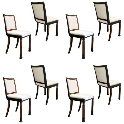 surprising art deco dining room chairs 86 for gray dining set of eight modern classicism dining chairs in elm by