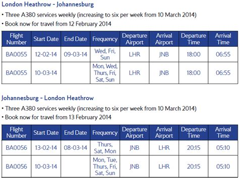 british airways south africa to london flights special report british airways a380 south africa launch