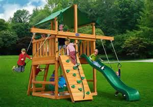 Vinyl Backyard Playsets Royal Palace Space Saver Wood Swing Set Playsets And