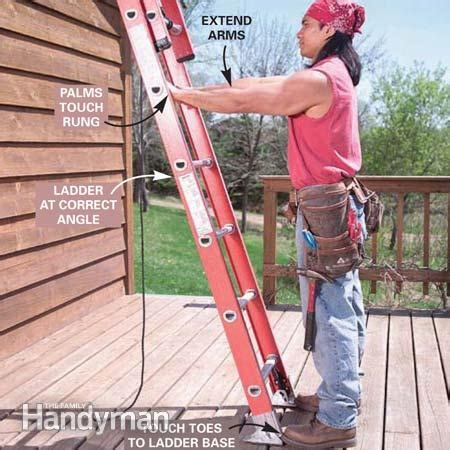How To Renew Old Kitchen Cabinets tips and techniques for safe extension ladder setup and
