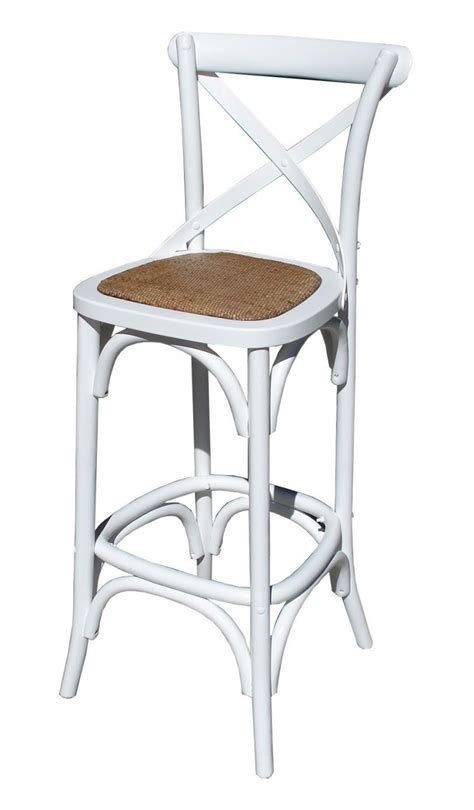 provincial crossback bar stool white 189