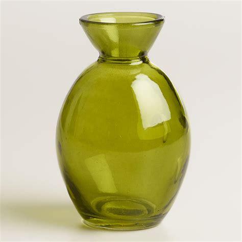 Green Bud Vase by Green Glass Bud Vase Set Of 6 World Market