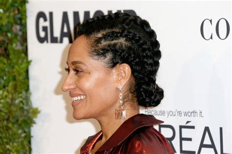Tracee Ellis Ross Hairstyles by Tracee Ellis Ross Braided Updo Updos Lookbook Stylebistro