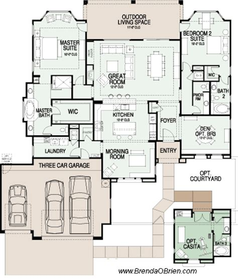 two master suites ranch plans pinterest 2 bedroom house plans with 2 master suites alp099r two