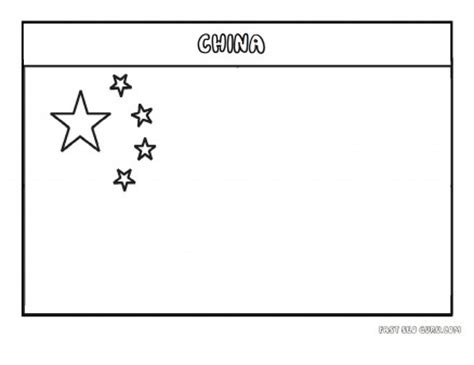 Printable Flag Of China Coloring Page Printable Coloring Flag Coloring Page Pdf