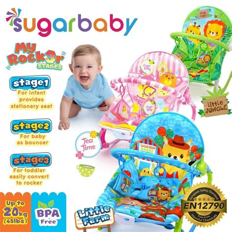 Bouncer 10in1 sugar baby bouncer bayi my rocker 3 stages pusat bouncer