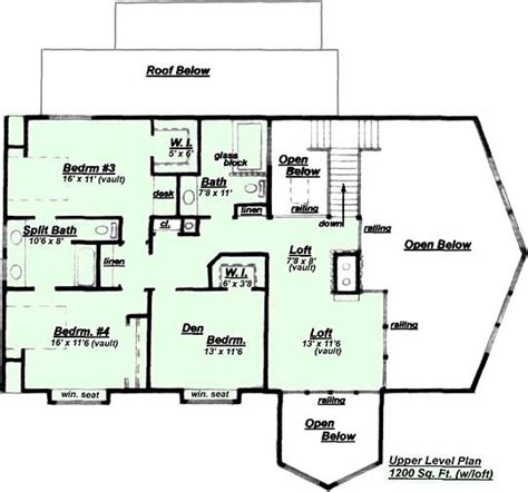 creative home plans creative house plans model hc 540 upper floor plan