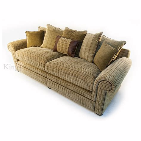 wade upholstery barnaby small sofa leather and fabric