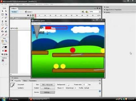 tutorial quiz flash 8 how to make a platform game in flash 8 part 1 youtube