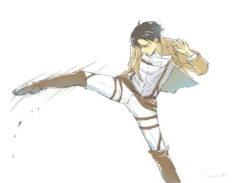 Kaos Anime My Hurt From Kicking So Much Nike Most Wante levi everybody the only human who can kick so flawlessly and cause so much at the same