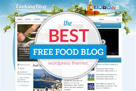 themes wordpress free food 30 free food blog wordpress themes