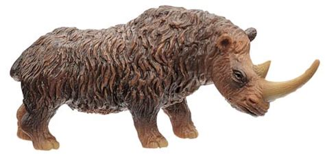 dinosaur rubber sts wooly rhinoceros extinction