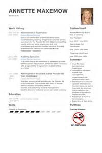 Administrative Supervisor Sle Resume by Administrative Supervisor Resume Sles Visualcv Resume Sles Database