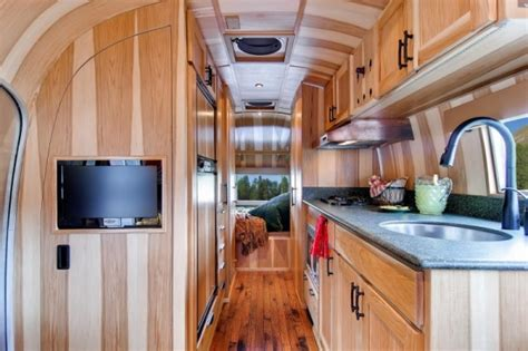 airstream renovated  timeless tiny cabin  wheels