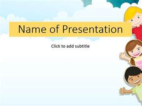 Free Powerpoint Templates Children by Children In A Garden Child S Template For Presentation